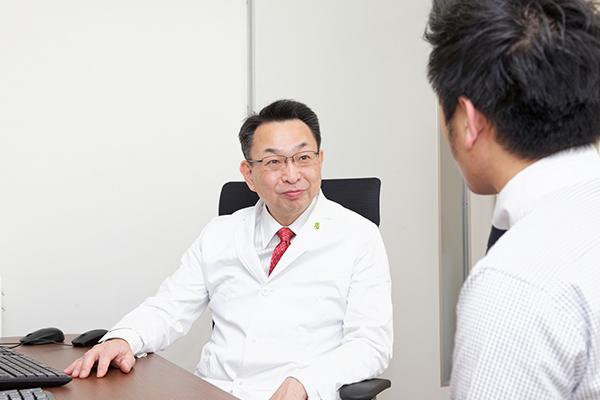 内視鏡検査の結果説明は原則後日受診していただいときに行います。